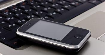 Phone laptop keyboard