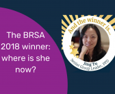 The BRSA 2018 winner: where is she now?